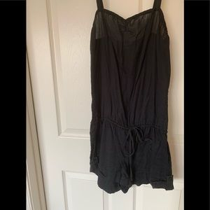 VS PINK black romper